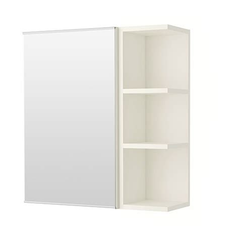 Lill 197 Ngen Mirror Cabinet 1 Door 1 End Unit White Ikea Ikea Bathroom Cabinet Storage