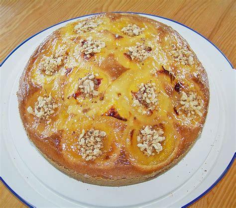 pfirsich kuchen pfirsich nuss kuchen rezept mit bild cooberpedy