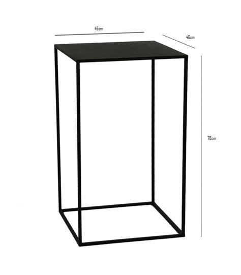 Table D Appoint Metal Noir by Sellette Table D Appoint En M 233 Tal Noir