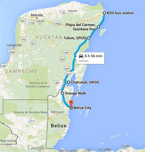 map of mexico and belize the best way to get to belize from cancun belize travel