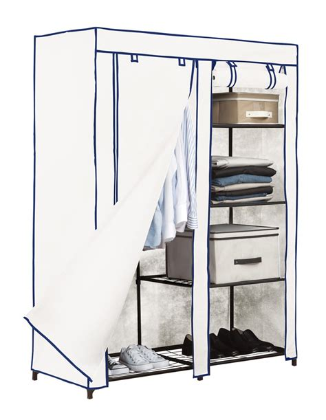 Kennedys Closet by Kennedy Home Collection Portable Closet White 48x62x20