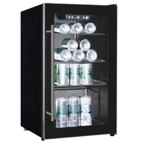 Fridge Freezers Kelvinator Black Glass Beverage Cooler Kelvinator Glass Door Refrigerator