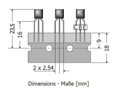 transistor bc337 16 bc337 16 dio offset leads to92 50v npn transistor hobby