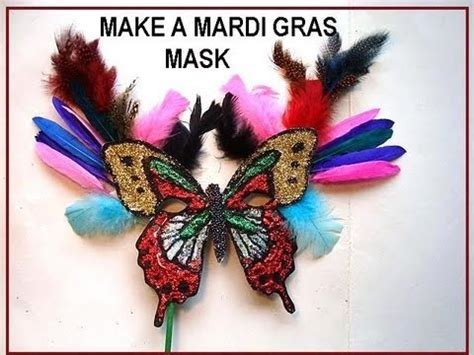How To Make A Mardi Gras Mask Out Of Paper - mardi gras mask diy how to make a handmade carnival mask