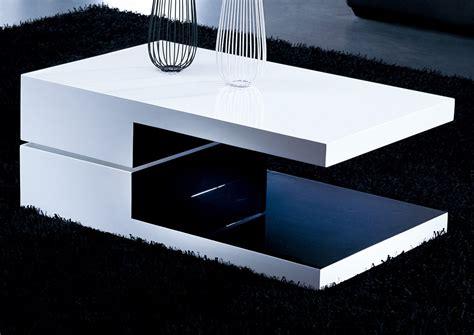 modern rectangular coffee table white and black rectangular high gloss contemporary coffee