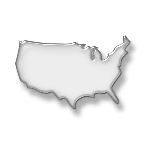 us map outline icon usa map maps icon 022208 187 icons etc