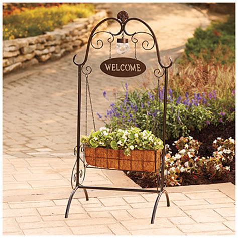 Welcome Planters by Wilson Fisher 174 Welcome Coco Planter With Solar Light