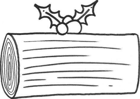 printable xmas log coloring sheet