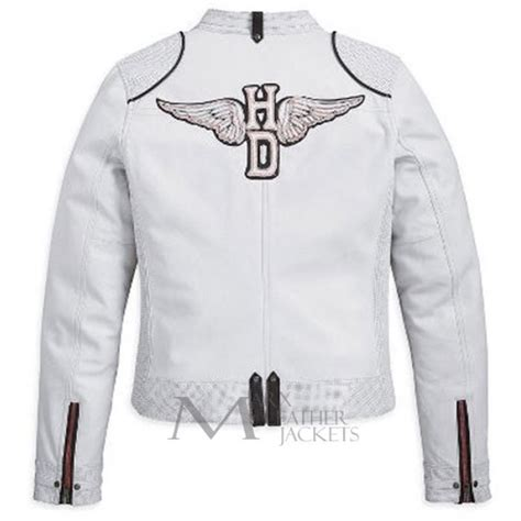 white motorbike jacket harley davidson motorcycle cottonwood white jacket