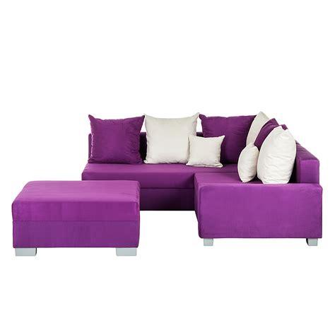 schlafcouch ottomane ecksofa hocker lila ottomane links schlafsofa sofa