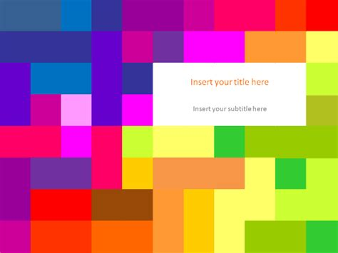 colorful powerpoint templates colorful pixel template for powerpoint