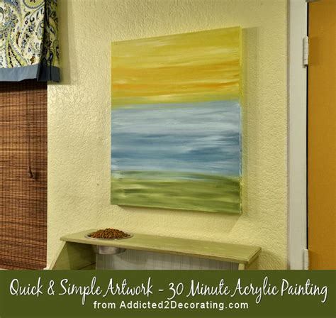 acrylic paint diy diy easy artwork 30 minute acrylic painting