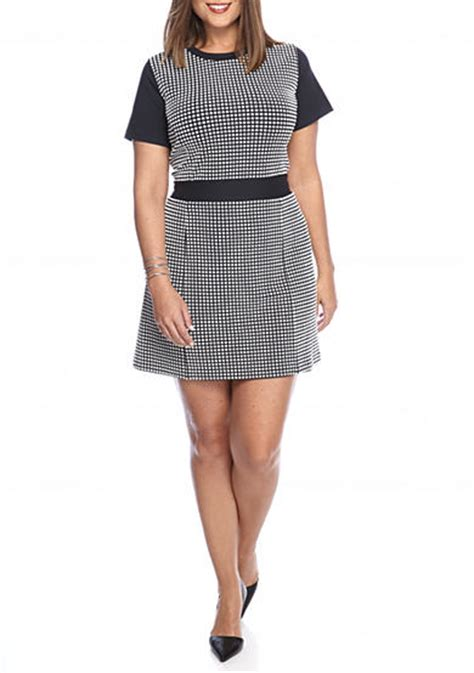 Dress Large Size Wh0153 michael michael kors plus size gingham textured dress belk