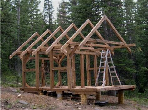 small timber frame cabin plans post and beam cabins