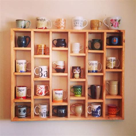 Mokha Coffee Storage Box Box Kayu Box Kayu Dekorasi Cafe mug shelf my diy mug display some home the depths the hundreds and