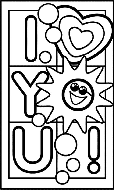 i love everything about you coloring page i love you crayola com au