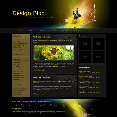 template 084 design blog