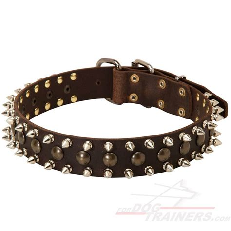 studded leather collars fashionable spiked and studded leather collar s55 1073 leather collar with studs