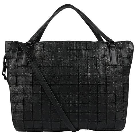 Burberry Leather Warrior Handbag by Burberry Quot Warrior Quot Black Leather Large Shoulder Bag