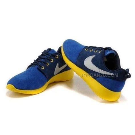 nike roshe run womens shoes blue yellow price 79 00