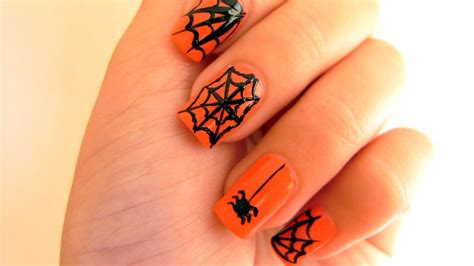 nail art tutorial websites spider web nail art tutorial for halloween youtube