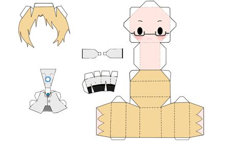 Papercraft Human - wheatley human papercraft by rin and len kagamine on
