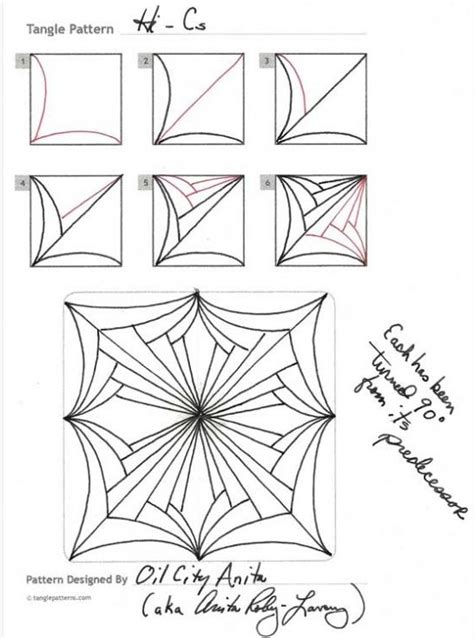 zentangle pattern hi bred how to draw hi cs by oil city anita 171 tanglepatterns com