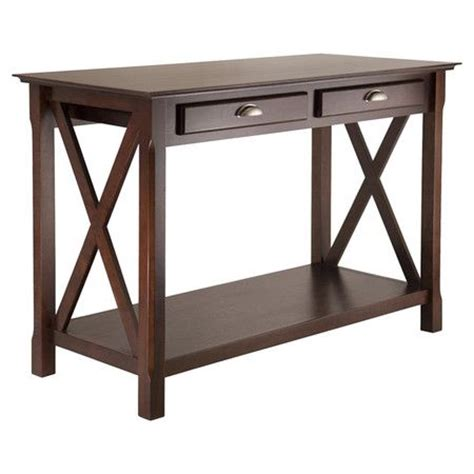 xola console table with drawers cappuccino found it at wayfair xola console table in cappuccino