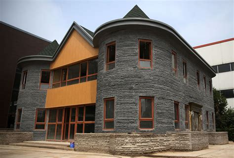 3d printed house first 3d printed house completed in beijing 2 chinadaily com cn