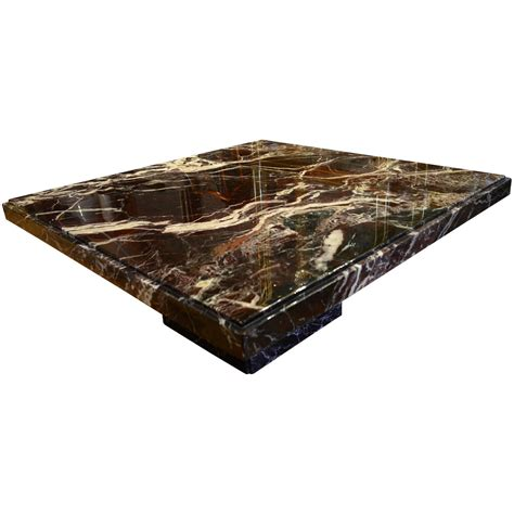 Black Marble Coffee Table Italian Black Marble Square Coffee Table For Sale At 1stdibs
