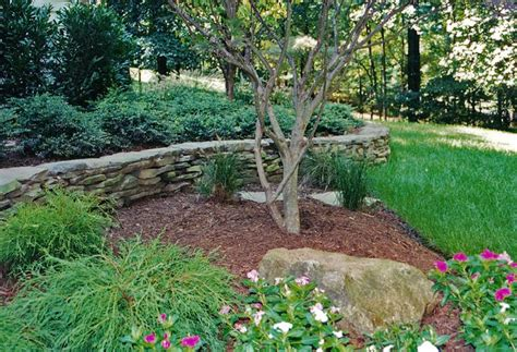 Patio Stone Designs Retaining Wall Patio Designs Curved Stone Wall A Low