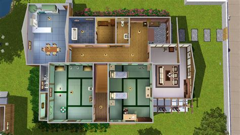 Floor Plan House by Mod The Sims Nobita S Home From The Anime Doraemon