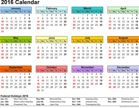 printable version of a 2016 calendar free cute printable calendar 2016