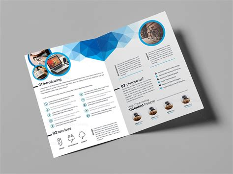 top rated premium bi fold brochure template 000712