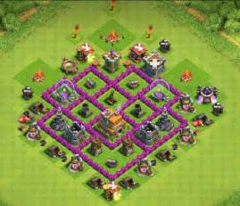 Clash of clans best layout defence town hall level 6