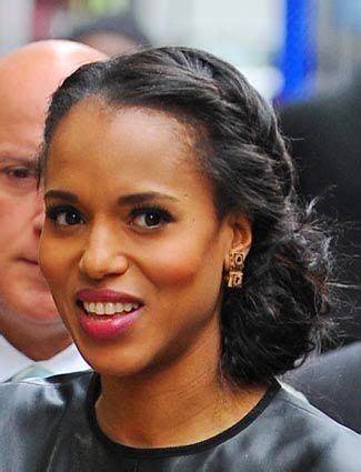 kerry washington hair pin up 17 best ideas about braided side buns on pinterest side