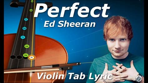 ed sheeran queue perfect ed sheeran violin tutorial tab lyric youtube