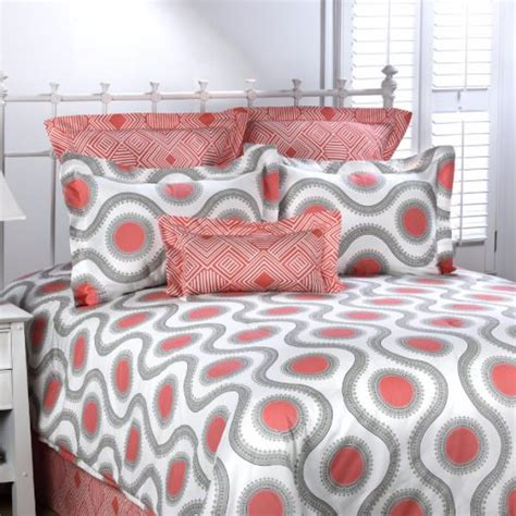 coral and gray bedding college bedding dorm room bedding made in usa tagged