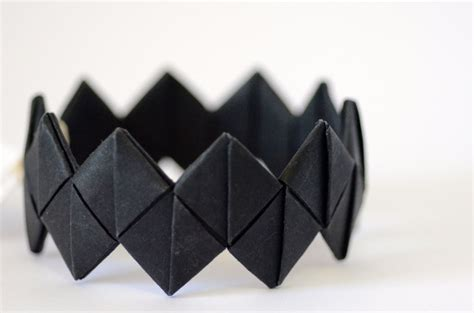 Black Origami Paper - chevron origami paper bangle black