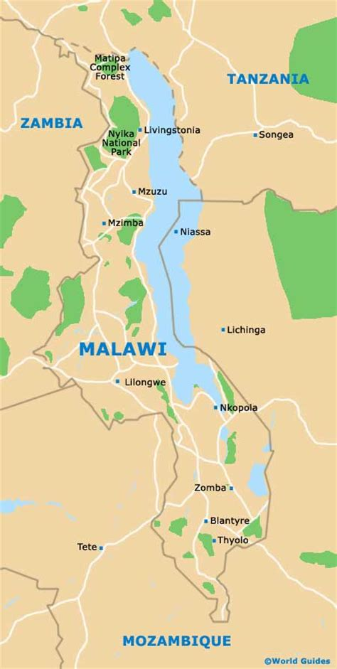 malawi map malawi maps and orientation malawi south east africa
