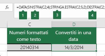 date testo data funzione data supporto di office