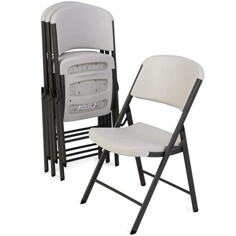 shop lifetime products  steel folding chairs  lowescom