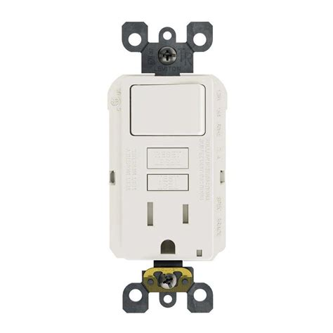 light switch and outlet combo leviton 15 125 volt combo self test ter resistant