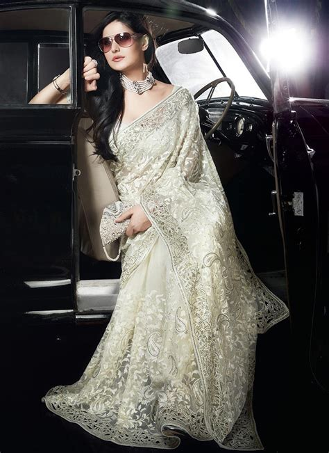 Outstanding Off White Cutwork Border Saree