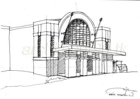 sketsa stasiun beos architect 90