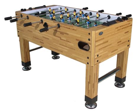 tournament choice foosball table berner premium foosball table in butcher block finish
