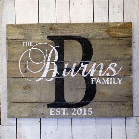 wood sign rustic home decor initial monogram last rustic farmhouse style wood family name sign custom name