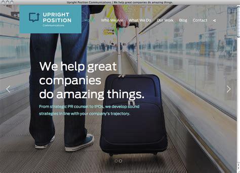 upright position communications website fonts
