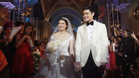 simple church wedding ceremony philippines dingdong and marian official wedding by mayad