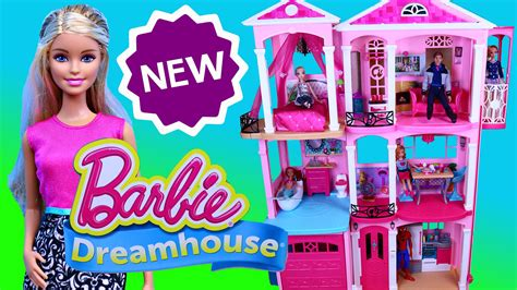 barbie doll dream house videos new barbie dream house dollhouse 2015 furnished mansion pool garage with disney